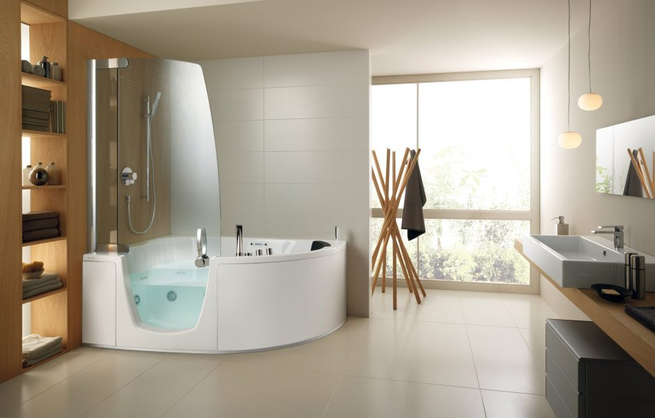 Accessible bathroom design for the elderly, disabled or infirm