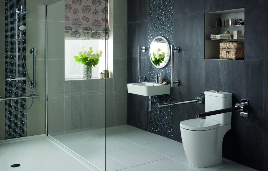 Accessible bathroom design for the elderly disabled or infirm for Bathroom design uk